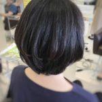 【秋ヘア】丸み×ひし形美シルエット 盛岡 神明町 美容師が作る大人ショートヘア