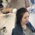 少しピリッとします☆ 盛岡 美容室で体験できる育毛マシン