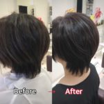 ツーセクションカットで美シルエット ☆ 盛岡 美容師が作る大人ショートヘア