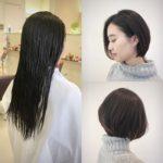 【ロングからショートへ】ばっさりカットでイメチェン☆ 岩手 盛岡 美容師が作る大人ショート