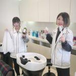 美容師の卵たち☆ サロン実習に来てくれました~。