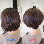 【梅雨時期はくせ毛を生かす】ふんわりショートボブ☆ 岩手 盛岡 美容師が作る大人ショートヘア