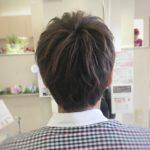 メンズショート×スモーキーマットアッシュ☆岩手 盛岡 神明町 美容師が作るショートヘア