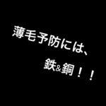 薄毛予防には、鉄&銅!!