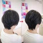 盛岡で冬のショートヘア似合わせカット☆ 大人女性の美シルエット