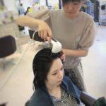 育毛マシンで頭皮の疲れを改善‼︎ 血行促進ラジオスパ☆