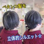 【ショートスタイルで解決☆】 ペタンコ髪を立体的にする!! 盛岡市大人女性のショート得意