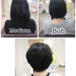 【変身】ミディアム → ボブ → ショート / 岩手 盛岡