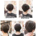 岩手盛岡でえりあし長めのすっきり冬バージョン☆大人の素敵なショートヘア