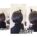 岩手盛岡で大人女性のショートヘア似合わせて作ります☆ ショートは1センチ短くても変わる